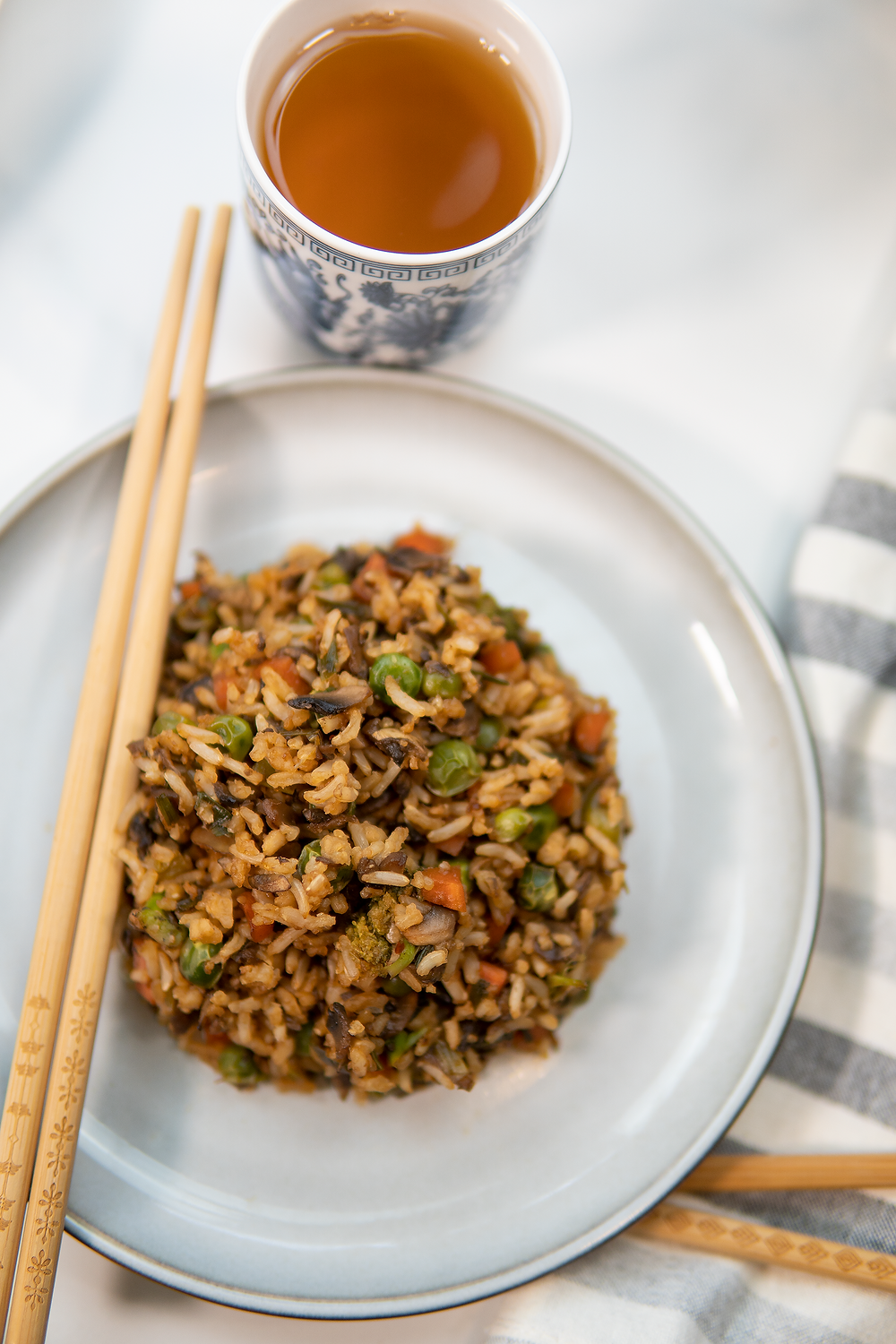 Oil Free Vegetable Fried Rice