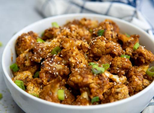 Vegan General Tso's Cauliflower - NO FRY - Gluten Free - Oil free