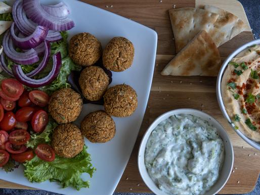 NO FRY Vegan Falafel w/ Oil Free Creamy Hummus