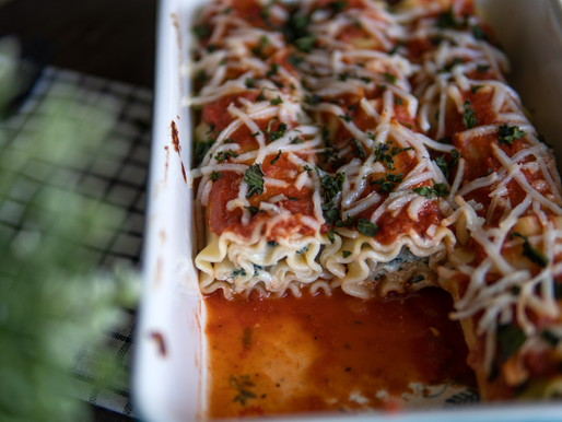 Vegan Lasagna Rollups with Spinach Ricotta - Gluten free & No added oil