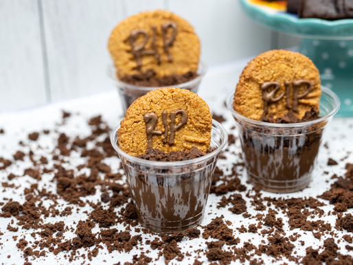 Vegan Chocolate Graveyard Pots - GF, No added oil, no added refined sugar