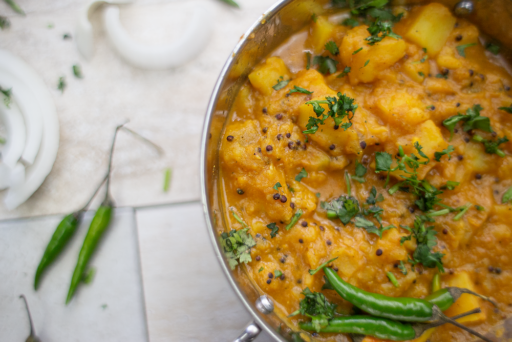 Oil Free Indian Railway Style Potato Curry