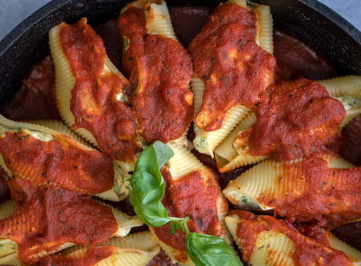 Vegan Stuffed Shells with Ricotta Cheese & Spinach - Oil free & GF