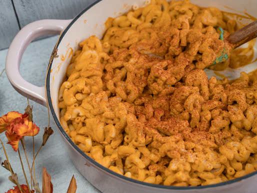 Vegan Pumpkin Mac & Cheese - Oil free | GF