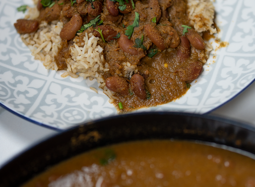 Oil free Rajma   Red Kidney Bean Curry
