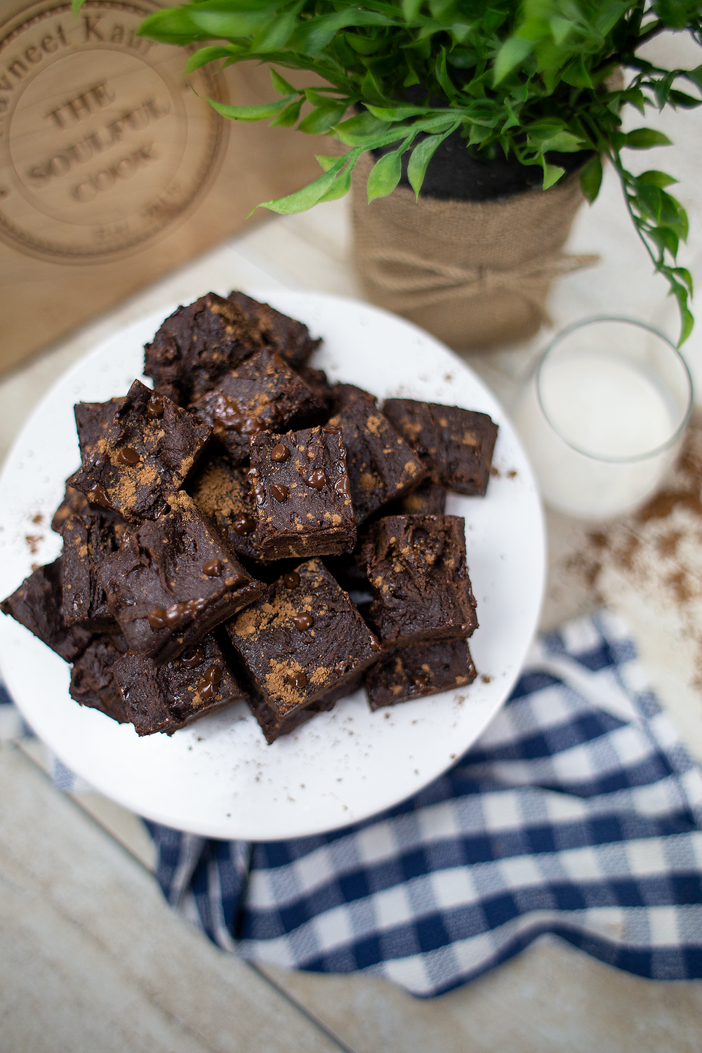 Vegan Fudge Brownies - GF | Oil Free | No Refined Sugar