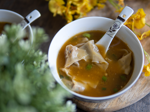Vegan Wonton Soup - No Added Oil