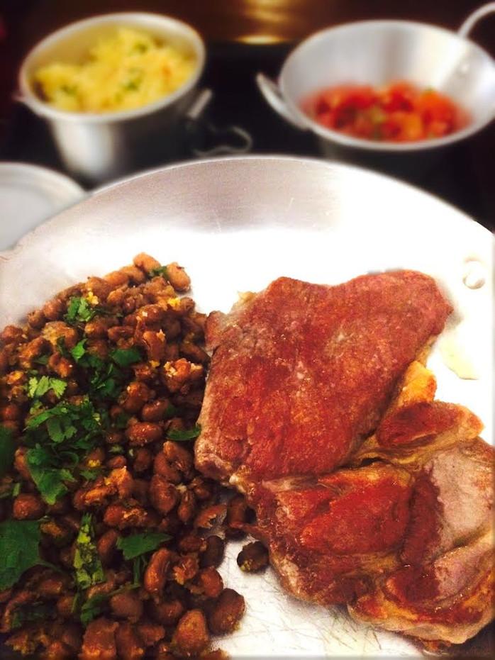 Carne de sol caseira no Jesuíno Brilhante, restaurante nordestino ótimo e barato em SP