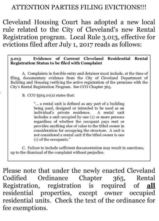 Cleveland Housing Court Website