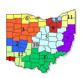 Map of Ohio Appellate Districts