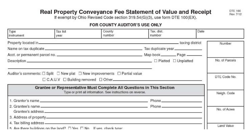 Ohio's Real Property Conveyance Statement