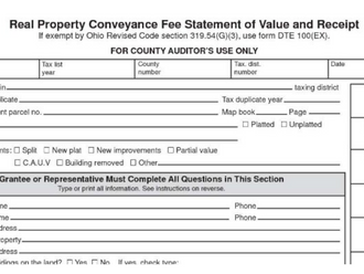 Ohio Real Property Conveyance Fee Statement: Don't Forget the Personal Property!