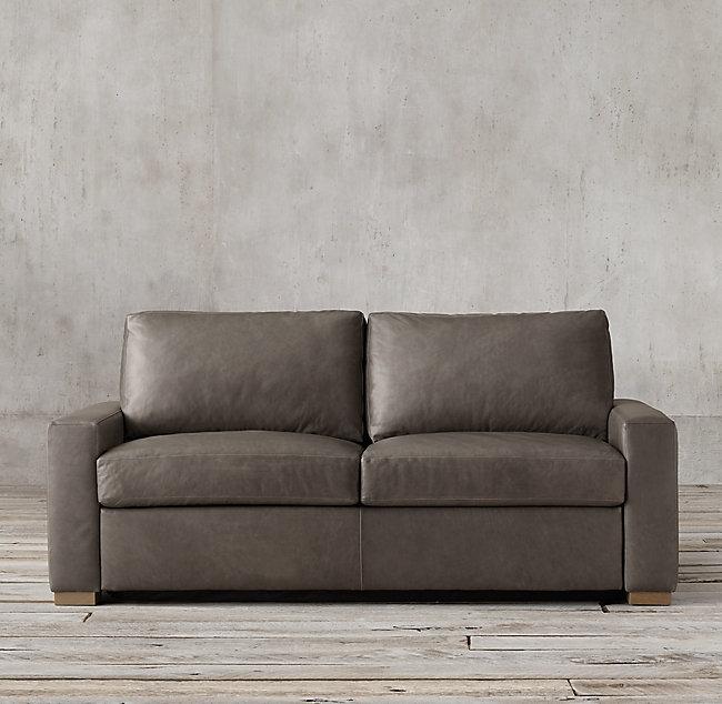 Terrific Belgian Track Arm Premium Leather Sleeper Sofa Delpierofurniture2 Inzonedesignstudio Interior Chair Design Inzonedesignstudiocom