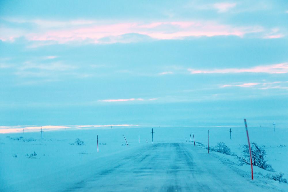 Обратная дорога, закат