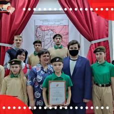 Юнармейцы Рузы встретились с пресс-секретарем подмосковного отделения «Юнармии»