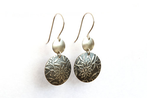 Floral print earrings