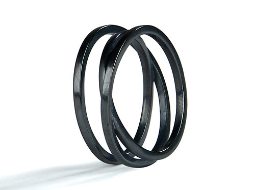 Triple Twist Ring (oxidised)