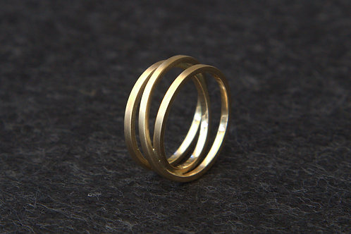 Gold Triple Twist Ring