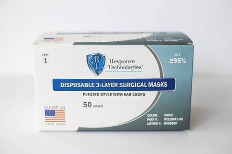 TYPE 1  Standard Face Masks -  50 count