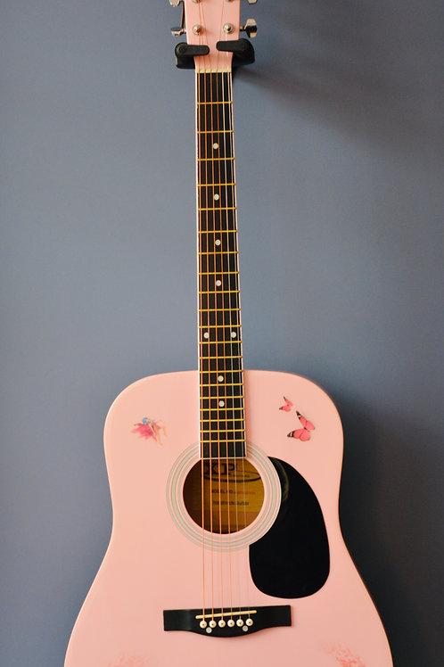 Guitare Folk rose
