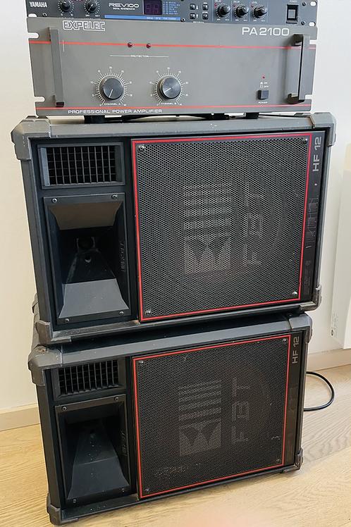 Sono Expelec PA2100 + Yamaha Rev100 + Enceintes FBT HF12