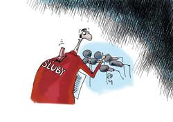 kreslený vtip politické sľuby