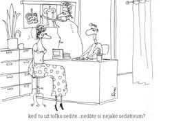 kreslený vtip u doktora