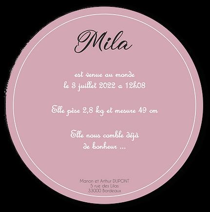 Faire-Part MILA_Rond_12x12cm_R.V_VDEF 2-