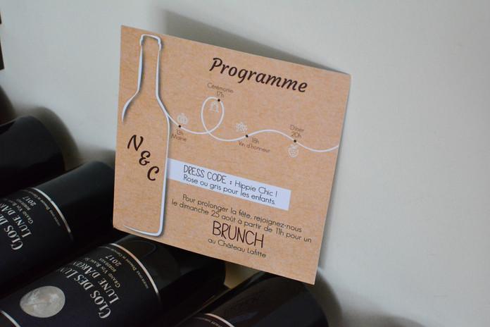 Faire-Part Mariage - Collection Vignes