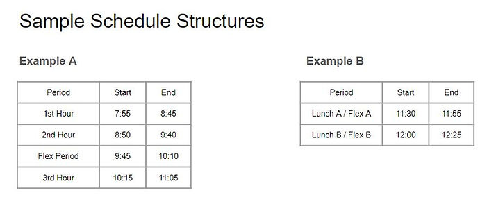 Schedule Examples - what is flextime per