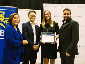 Patrick Gunning & Diana Kraskouskaya win the RBC Prize for Innovation and Entrepreneurship for D