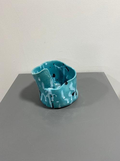 Pot bleu turquoise