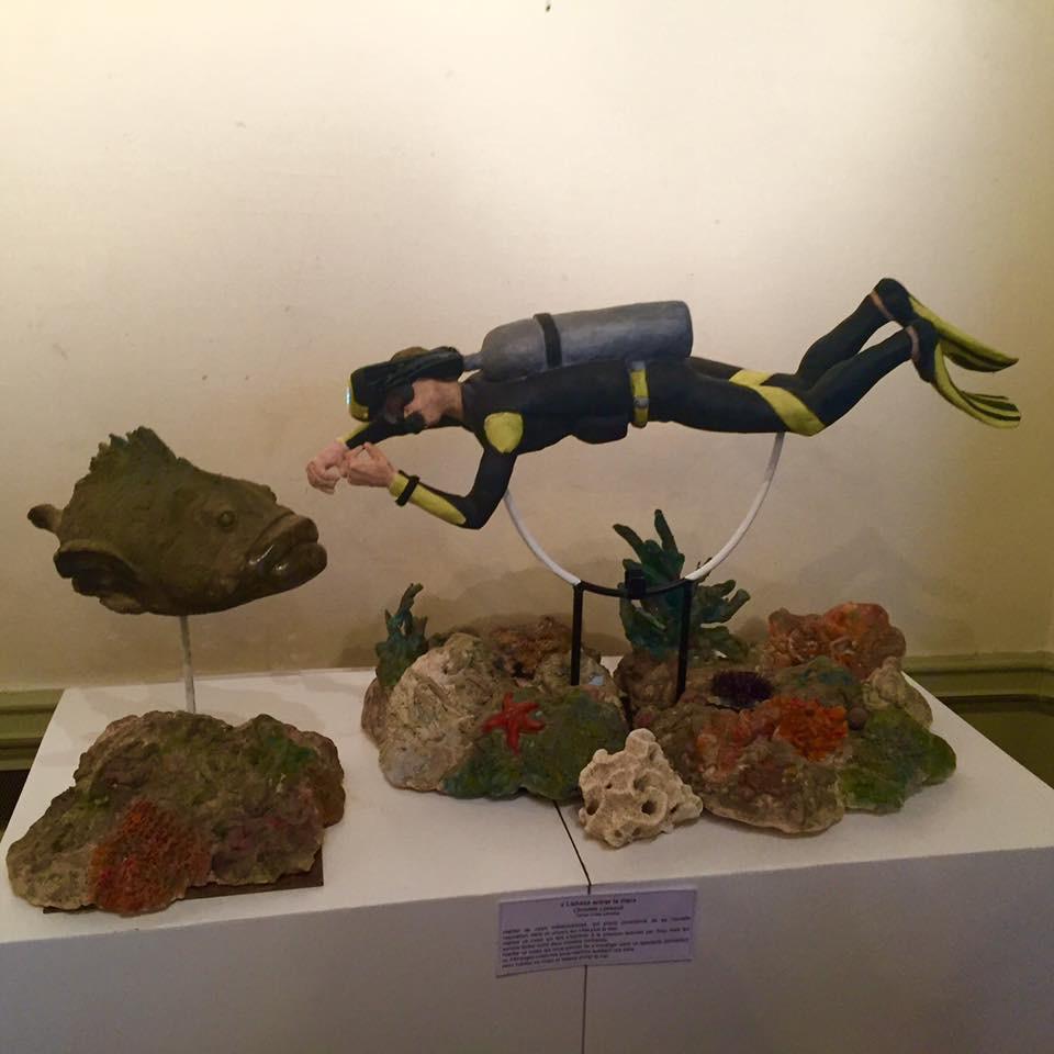 Plongeur et son mérou (2015)