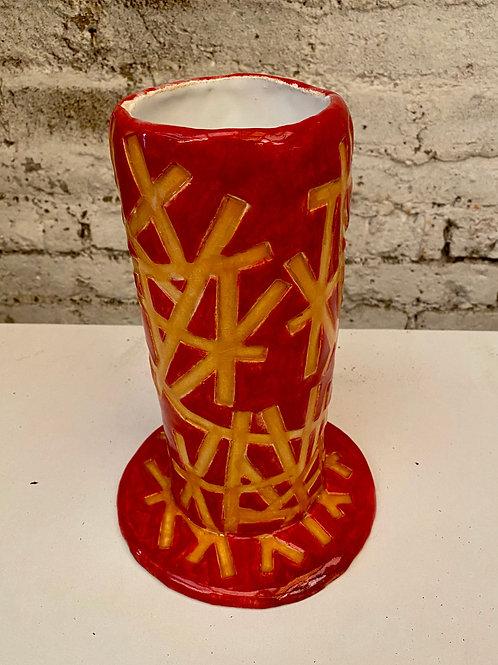 Vase baguettes safran et ocre