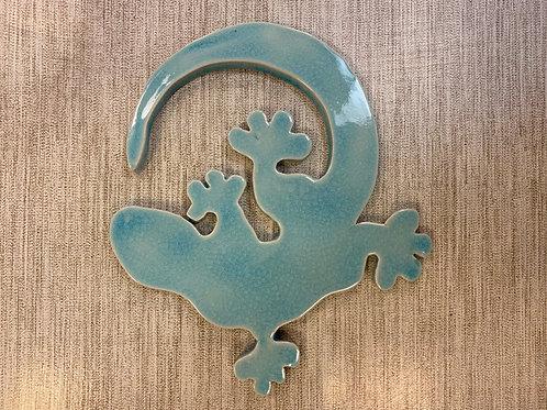 Dessous de plat salamandre bleu lagon