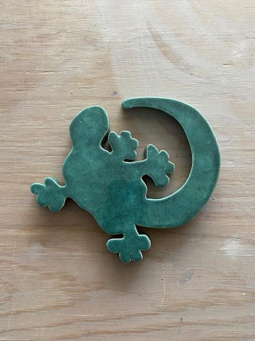Dessous de plat salamandre bleu cristal