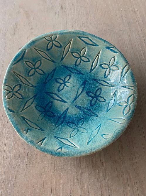 Coupelle à motifs bleu lagon