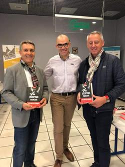 Avec Claude Liogier, adjoint du maite de Saint-Etienne et mon ami le contrôleur général Alain MAILHE