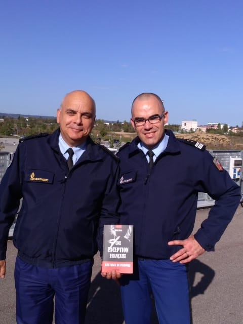 Avec le GCA Philippe GUIMBERT commandant la région de gendarmerie de Rhône-Alpes.