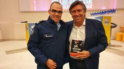 Avec Jacques Legros à l'occasion de la cérémonie de remise des trophées du club de la presse et de l