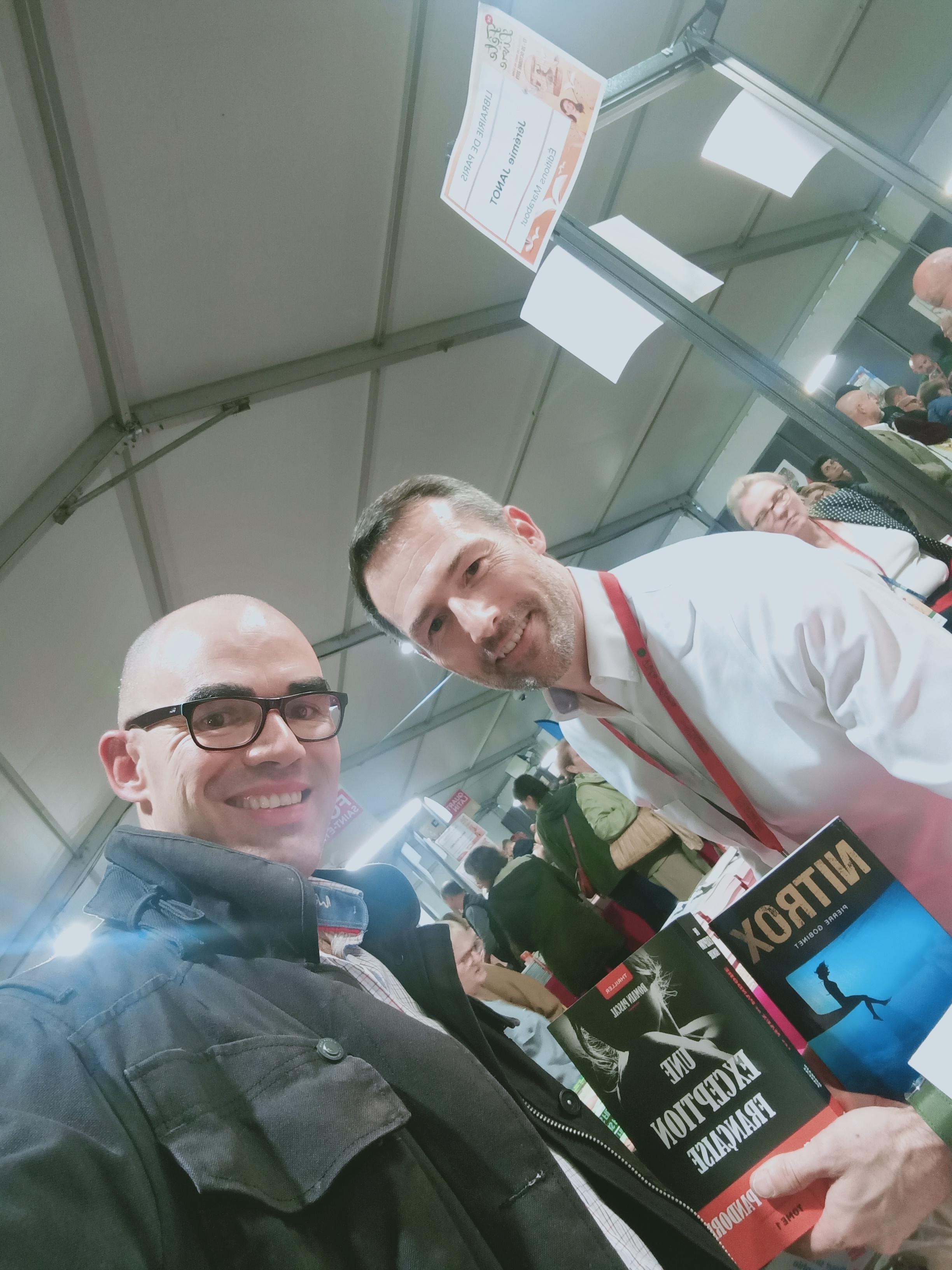 Avec mon camarade Pierre GOBINET, auteur de Nitrox