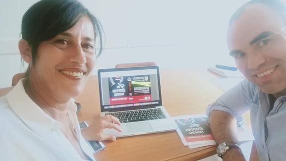 Avec Rachida pour les premiers aperçus de la couverture d'Une exception française
