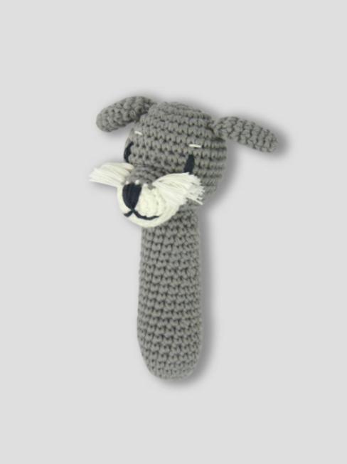 Crochet Rattle - Schnitz Schnauzer