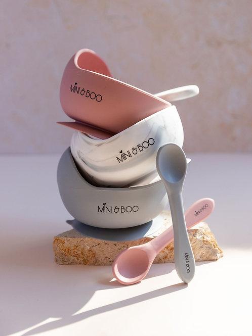 Silicone Suction Bowl Set