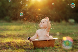 Baby in Outdoor Bath
