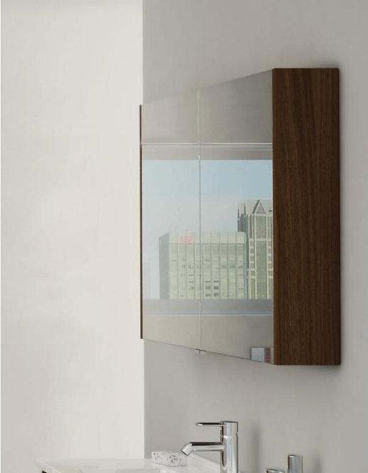 Vitra Classic 800mm Mirrored Wall Cabinet - Dark Oak