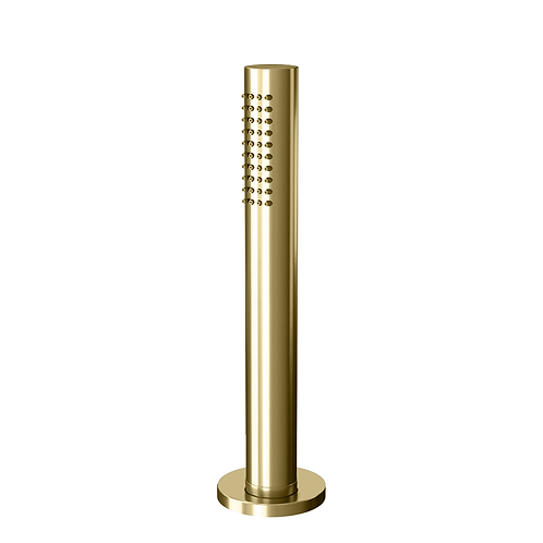 Water evolution Flow pull-out hand shower with retractable Hose :: Brushed Brass