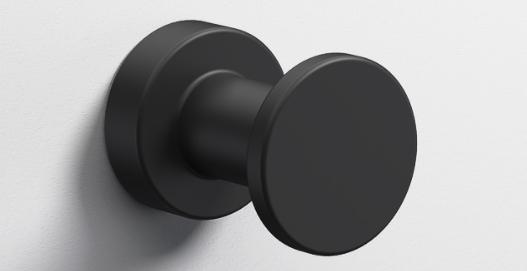 Tecno Project Single Robe Hook 35mm - Matt Black