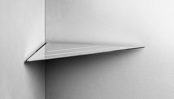 Reframe Corner Shower Shelf || Polished Steel
