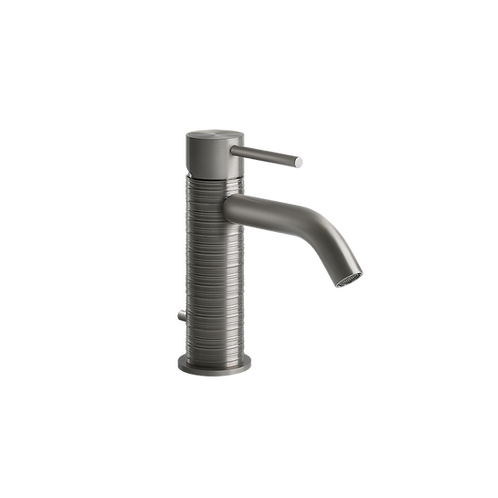 Gessi 316 Trame Basin Monobloc Tap - Steel Brushed  483